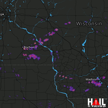 Hail Map Rochester, MN 06-16-2017