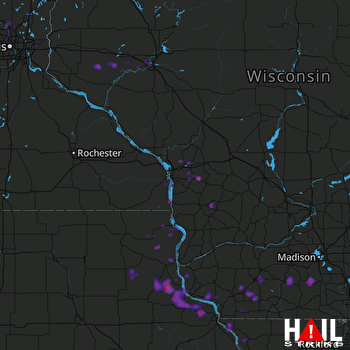 Hail Map Belleville, WI 07-12-2017