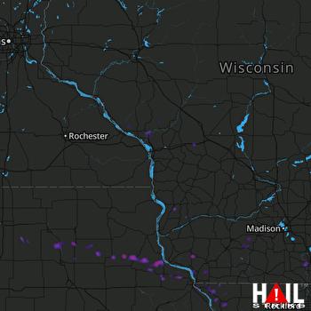 Hail Map Lancaster, WI 07-12-2017