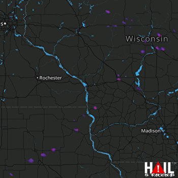 Hail Map Stevens Point, WI 07-12-2017