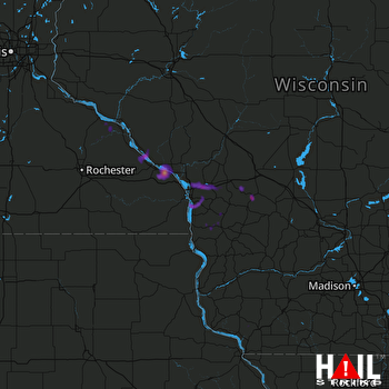 Hail Map Winona, MN 07-20-2017