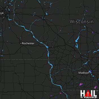 Hail Map Waupun, WI 08-10-2017