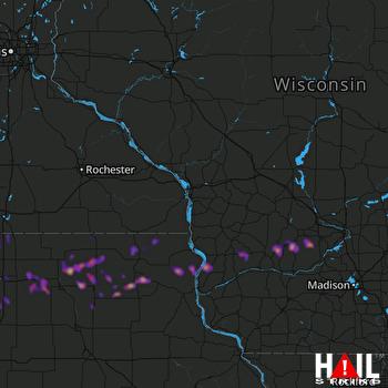 Hail Map Waukon, IA 04-13-2018