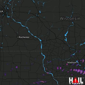 Hail Map Janesville, WI 05-02-2018