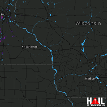 Hail Map Minneapolis, MN 05-25-2018