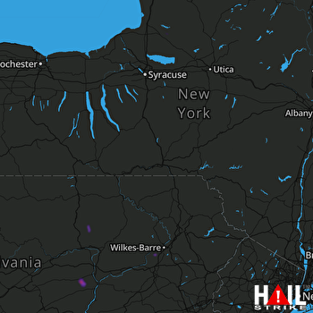 Hail Map Nanticoke, PA 04-15-2019