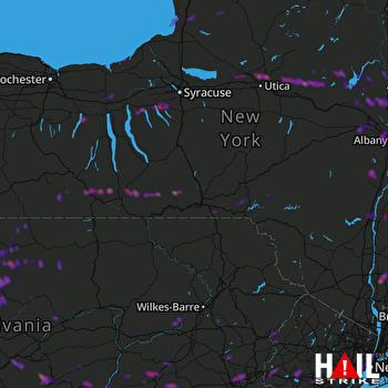 Hail Map New York, NY 08-18-2019