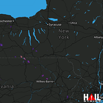 Hail Map Addison, NY 07-20-2017