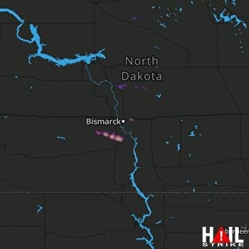 Hail Map BISMARCK 05-15-2019
