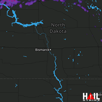 Hail Map Bottineau, ND 06-29-2019