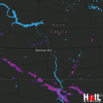 Hail Map Mobridge, SD 07-17-2019
