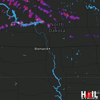 Hail Map Minot, ND 08-05-2019