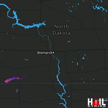 Hail Map Hettinger, ND 08-11-2019