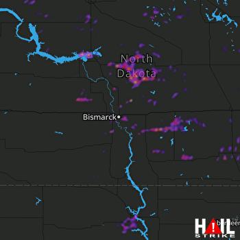Hail Map Mobridge, SD 08-25-2019