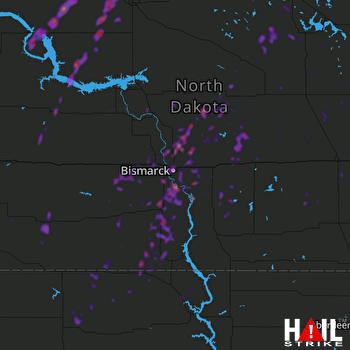 Hail Map Mandan, ND 09-20-2019
