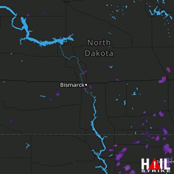 Hail Map Ashley, ND 07-04-2020