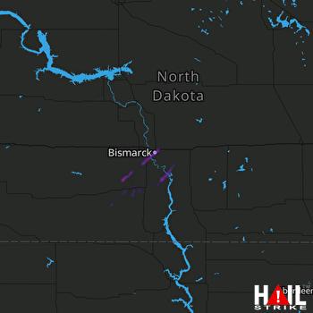Hail Map BISMARCK 07-03-2021