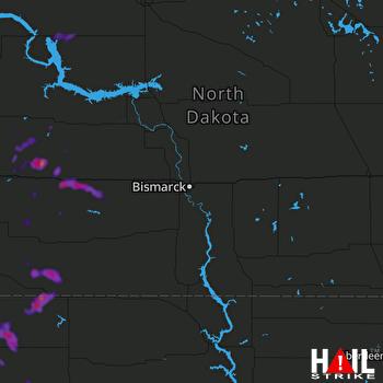 Hail Map Glen Ullin, ND 07-06-2021