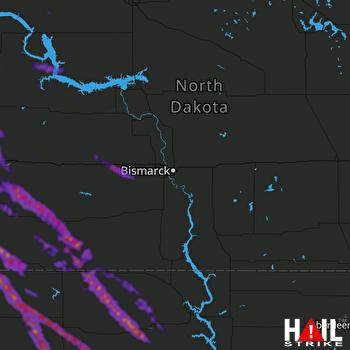 Hail Map Bowman, ND 07-09-2021