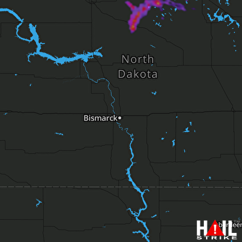 Hail Map Rugby, ND 07-20-2021