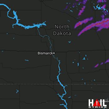Hail Map Devils Lake, ND 08-10-2021