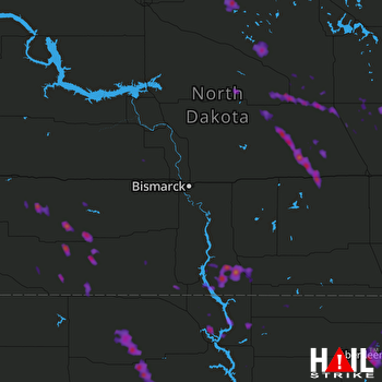 Hail Map Carrington, ND 07-05-2017