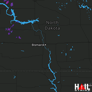 Hail Map Watford City, ND 07-29-2017