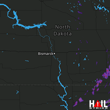 Hail Map Edgeley, ND 09-19-2017