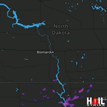 Hail Map Mobridge, SD 05-17-2018