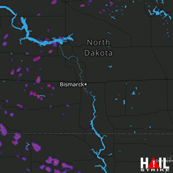 Hail Map Garrison, ND 06-27-2018