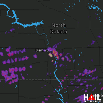 Hail Map Bowman, ND 07-03-2018