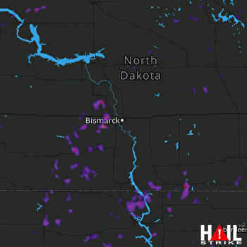 Hail Map Carson, ND 07-04-2018