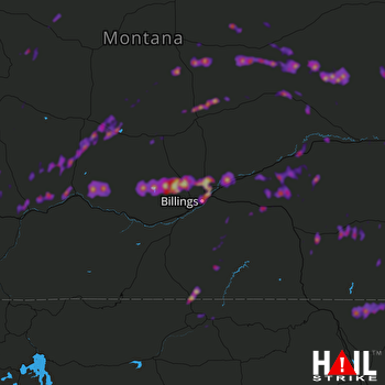 Hail Map Belgrade, MT 08-11-2019