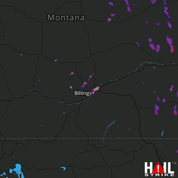 Hail Map Shepherd, MT 08-23-2019