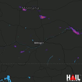 Hail Map Lewistown, MT 07-08-2021