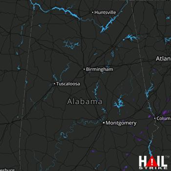 Hail Map Midland, GA 08-14-2017