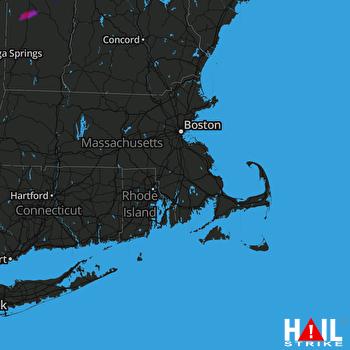 Hail Map Wallingford, VT 06-22-2021