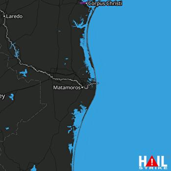 Hail Map BROWNSVILLE 03-21-2020