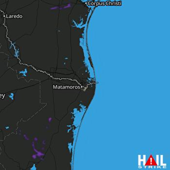 Hail Map BROWNSVILLE 09-22-2021