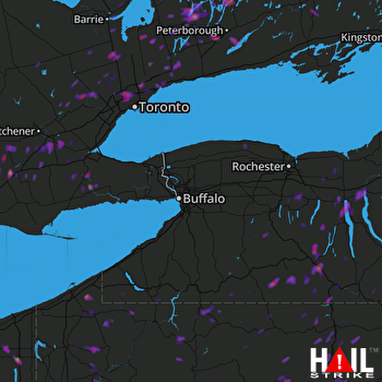 Hail Map Bath, NY 08-02-2017