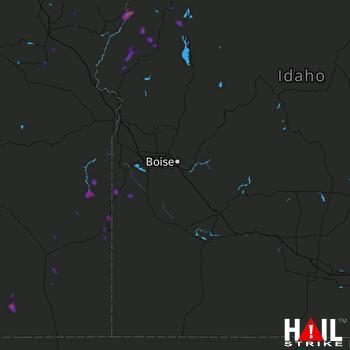 Hail Map Jordan Valley, OR 05-25-2018