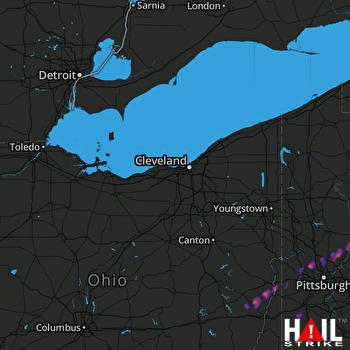 Hail Map Coraopolis, PA 04-28-2017