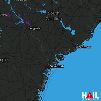 Hail Map CHARLESTON 07-22-2018