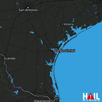 Hail Map Kingsville, TX 07-21-2021