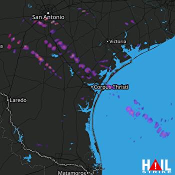 Hail Map Beeville, TX 05-24-2017