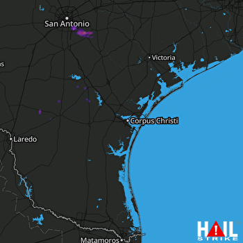 Hail Map Floresville, TX 05-30-2017
