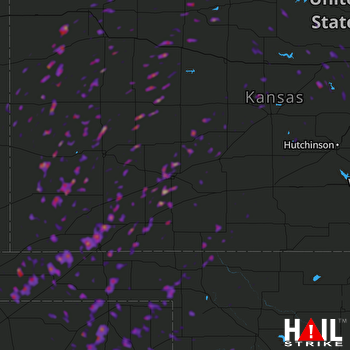 Hail Map Liberal, KS 05-23-2019