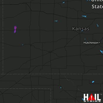 Hail Map DODGE CITY 09-10-2019