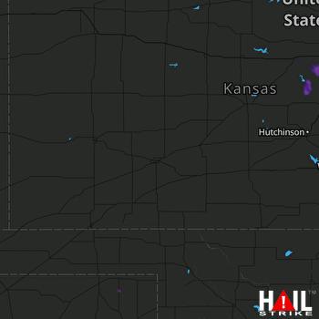 Hail Map DODGE CITY 06-04-2020