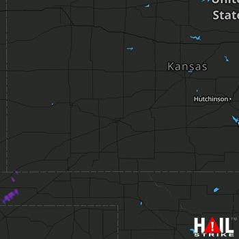 Hail Map DODGE CITY 09-23-2017